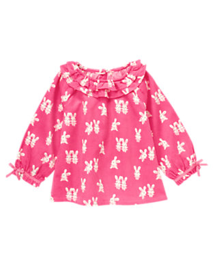 Pirouette Pink Bunny Ballerina Bunny Corduroy Top by Gymboree