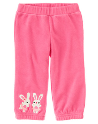 Toddler Girls Pirouette Pink Ballerina Bunny Microfleece Pant by Gymboree