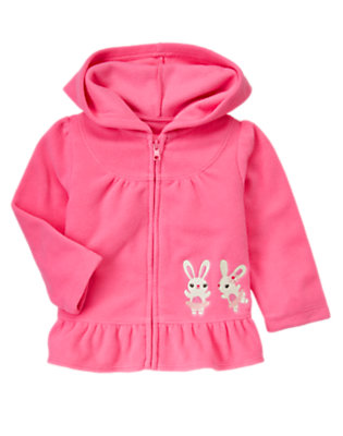 Toddler Girls Pirouette Pink Ballerina Bunny Microfleece Hoodie by Gymboree