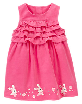 Toddler Girls Pirouette Pink Ballerina Bunny Corduroy Dress by Gymboree