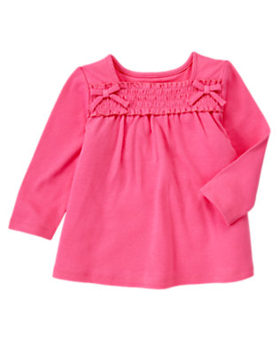 Pirouette Pink Smocked Long Sleeve Top by Gymboree