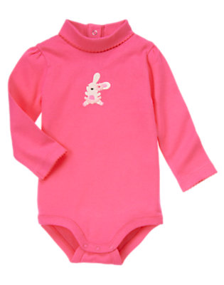 Pirouette Pink Dancing Bunny Turtleneck Bodysuit/Tee Shirt by Gymboree