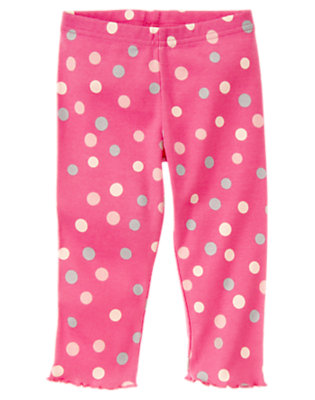 Toddler Girls Pirouette Pink Dot Dot Legging by Gymboree