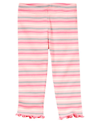 Ballerina Pink Mini Stripe Stripe Legging by Gymboree
