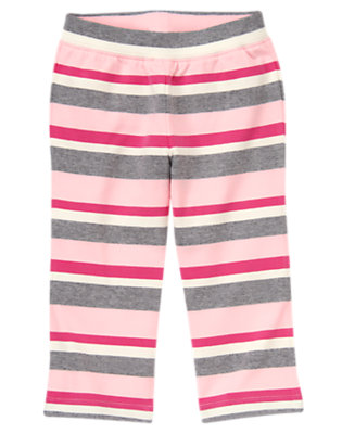 Heather Grey Stripe Stripe Knit Pant by Gymboree