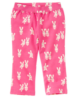 Toddler Girls Pirouette Pink Bunny Ballerina Bunny Knit Pant by Gymboree