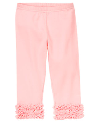 Ballerina Pink Tulle Ruffle Legging by Gymboree