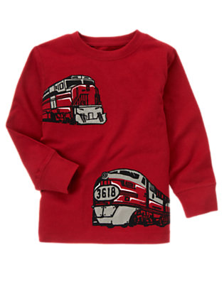 Caboose Red Trains Tee by Gymboree