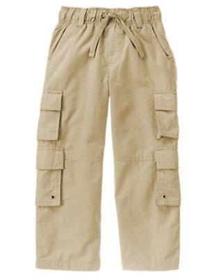 Khaki Double Cargo Pocket Lined Active Pant by Gymboree