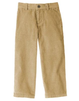 Khaki Corduroy Pant by Gymboree