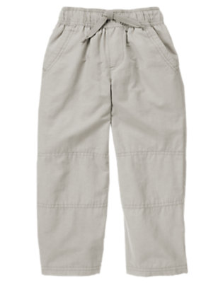 Heather Grey Microfleece Lined Active Pant by Gymboree