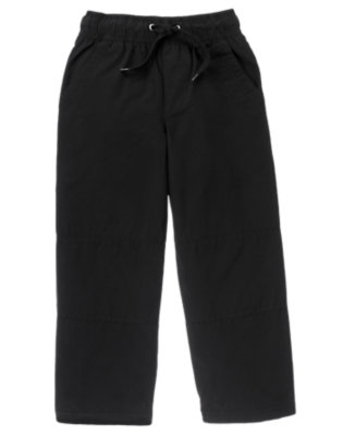 Black Microfleece Lined Active Pant by Gymboree