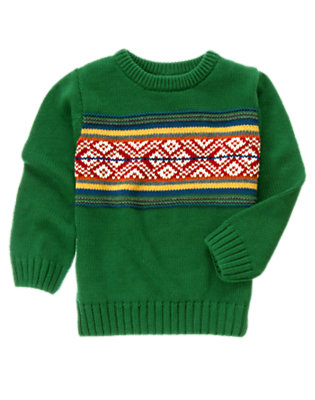 Boys Ivy Green Fair Isle Sweater by Gymboree