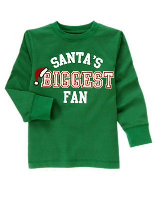 Ivy Green Santa's Biggest Fan Tee by Gymboree