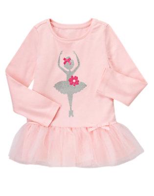 Ballerina Pink Glitter Ballerina Tutu Top by Gymboree