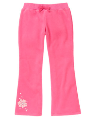 Pirouette Pink Flower Microfleece Pant by Gymboree