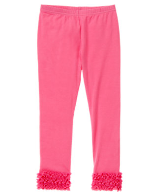 Pirouette Pink Tulle Ruffle Legging by Gymboree