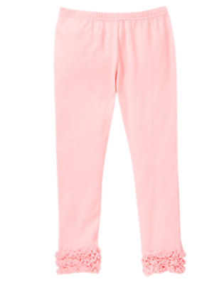 Girls Ballerina Pink Tulle Ruffle Legging by Gymboree