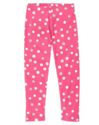 Pirouette Pink Dot Dot Legging by Gymboree
