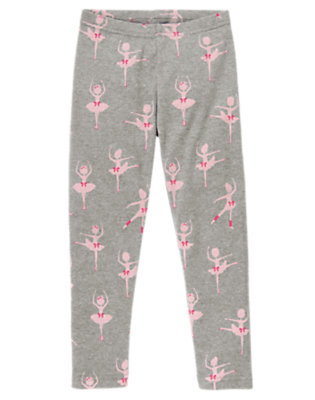 Girls Heather Grey Ballerina Ballerina Legging by Gymboree