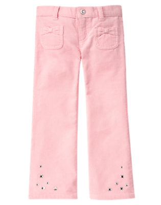 Girls Ballerina Pink Gem Bootcut Corduroy Pant by Gymboree