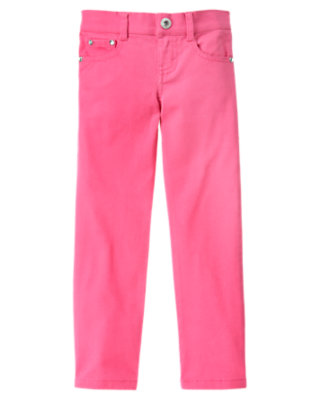 Girls Pirouette Pink Gem Skinny Jean by Gymboree