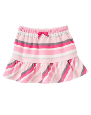 Girls Ballerina Pink Stripe Stripe Microfleece Skirt by Gymboree