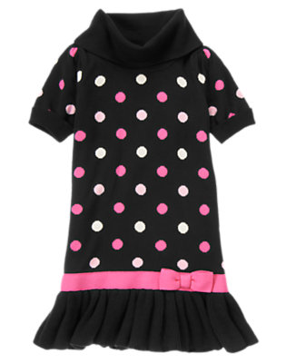 Black Dot Dot Sweater Dress by Gymboree