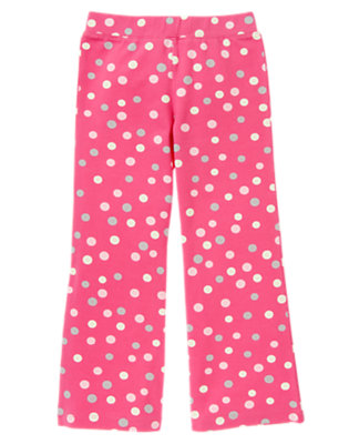 Girls Pirouette Pink Dot Dot Flare Pant by Gymboree