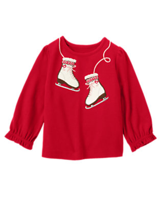 Cheery Red Ice Skate Tee by Gymboree
