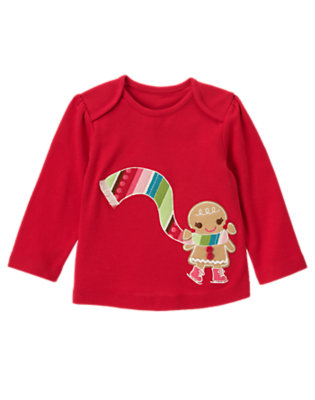 Cheery Red Button Gingerbread Girl Tee by Gymboree