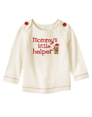 Holiday Ivory Mommy's Little Helper Tee by Gymboree