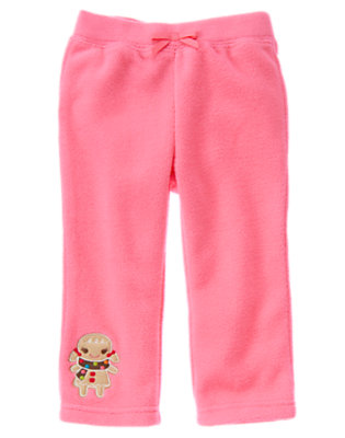 Winter Pink Gingerbread Girl Microfleece Pant by Gymboree