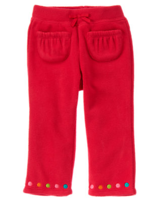 Cheery Red Dot Microfleece Pant by Gymboree