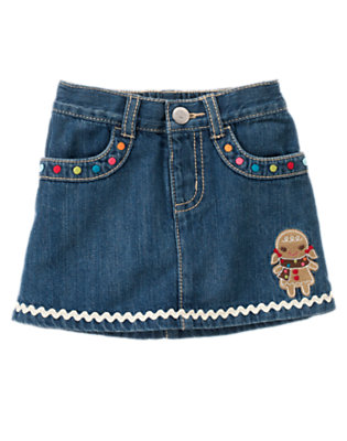 Toddler Girls Denim Gingerbread Girl Jean Skirt by Gymboree