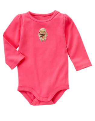 Winter Pink Gingerbread Girl Bodysuit by Gymboree