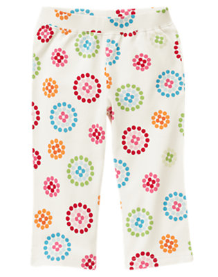 Holiday Ivory Dot Flower Dot Flower Knit Pant by Gymboree