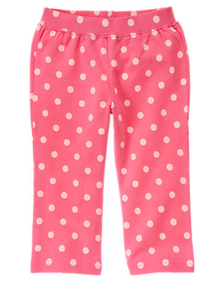 Winter Pink Dot Dot Knit Pant by Gymboree