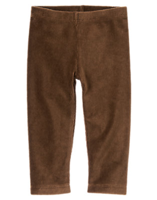 Toddler Girls Chestnut Brown Velour Legging by Gymboree