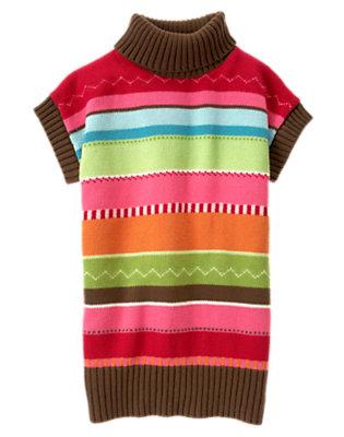 Cheery Red Zigzag Stripe Stripe Sweater Tunic by Gymboree