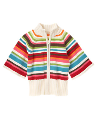 Girls Winter Pink Stripe Stripe Sweater Cardigan by Gymboree