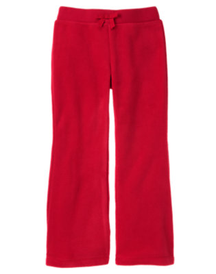 Girls Cheery Red Microfleece Flare Pant by Gymboree