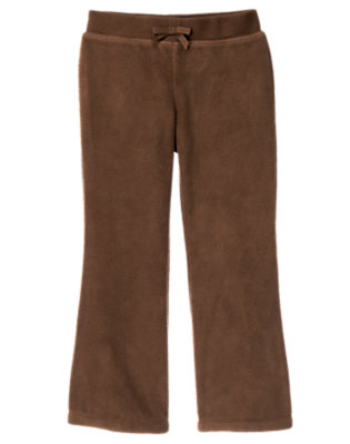 Chestnut Brown Microfleece Flare Pant by Gymboree