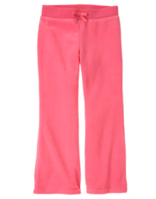 Girls Winter Pink Microfleece Flare Pant by Gymboree