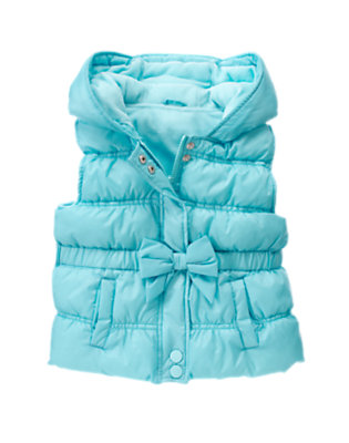 Cozy Blue Hooded Puffer Vest by Gymboree