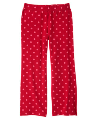 Girls Cheery Red Dot Dot Flare Pant by Gymboree
