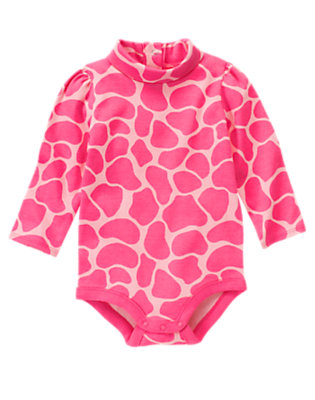 Loveable Pink Giraffe Giraffe Turtleneck Bodysuit/Tee by Gymboree