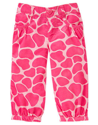 Toddler Girls Loveable Pink Giraffe Giraffe Corduroy Pant by Gymboree