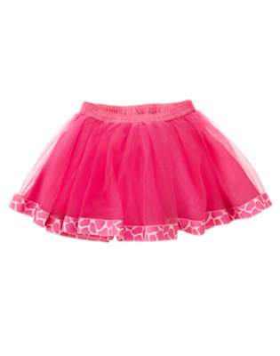 Loveable Pink Giraffe Tutu Skirt by Gymboree