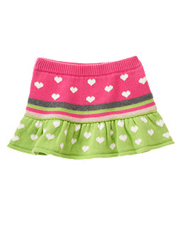 hearts skirt, Valentine's day skirt